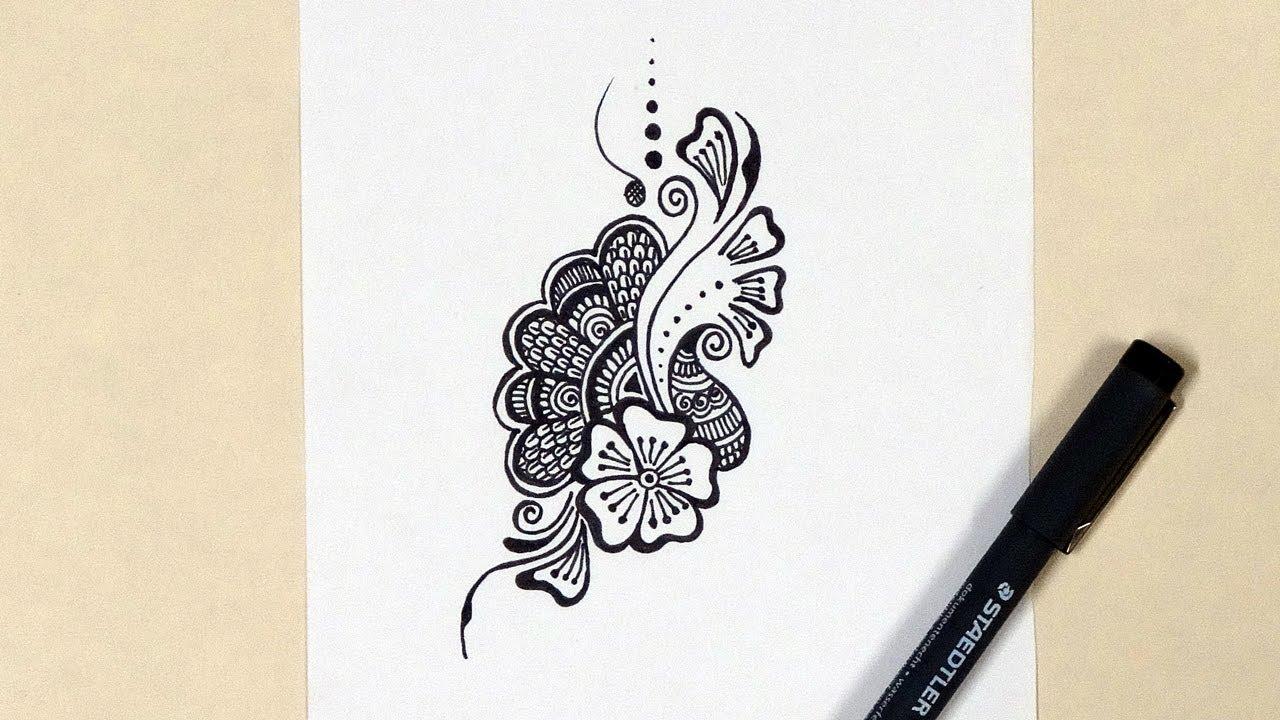 Henna Mehndi Design / Doodle - YouTube
