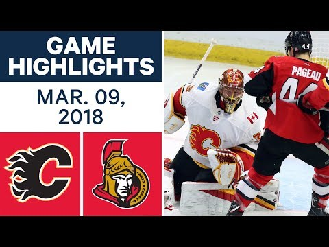 NHL Game Highlights | Flames vs. Senators - Mar. 09, 2018
