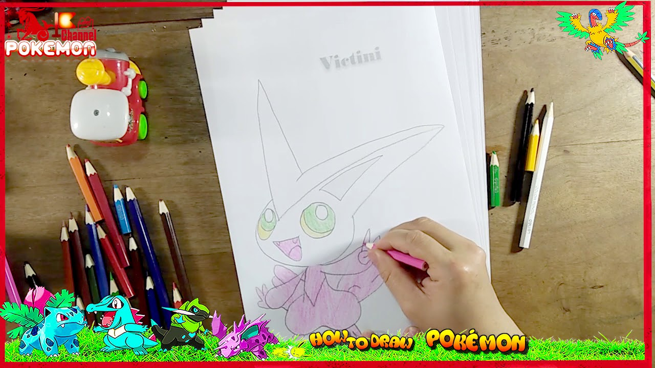 How To Draw Victini Pokemon Mobile Phone And Apps