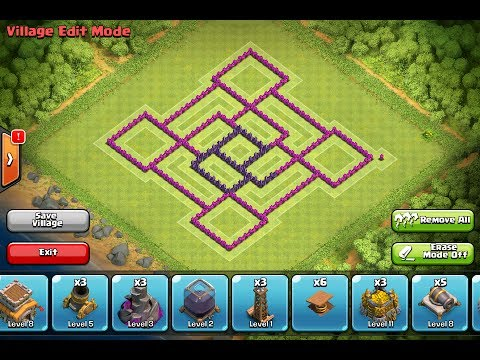 CoC: Best Town Hall Level 8 Clan War Base(The Whirlpool ...
