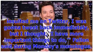 °Jimmy Fallon Goes After Donald Trump in Politically Charged Monologue Following Twitter Feud | E...