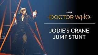 Jodie Whittaker's First Stunt | Doctor Who: Series 11