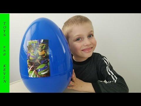 Большое яйцо с сюрпризом ЧЕРЕПАШКИ НИНДЗЯ Киндер сюрприз
