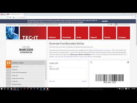 ແນະນຳວິທີການສ້າງ Barcodes ໂດຍນຳໃຊ້ເລກ ISBN 13 ໂຕເລກ.