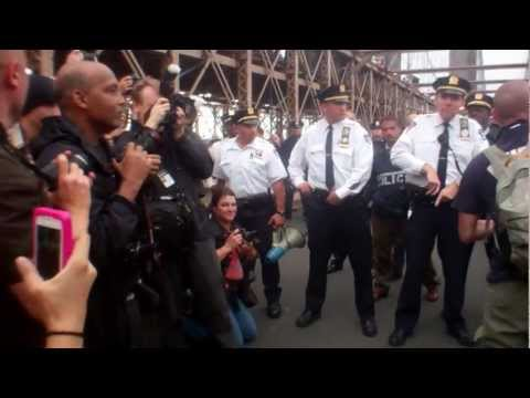 OCCUPY WALL ST MARCH TO BROOKLYN BRIDGE & ARRESTS
