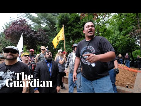 Exclusive: video shows Portland officers made deal with far-right group leader
