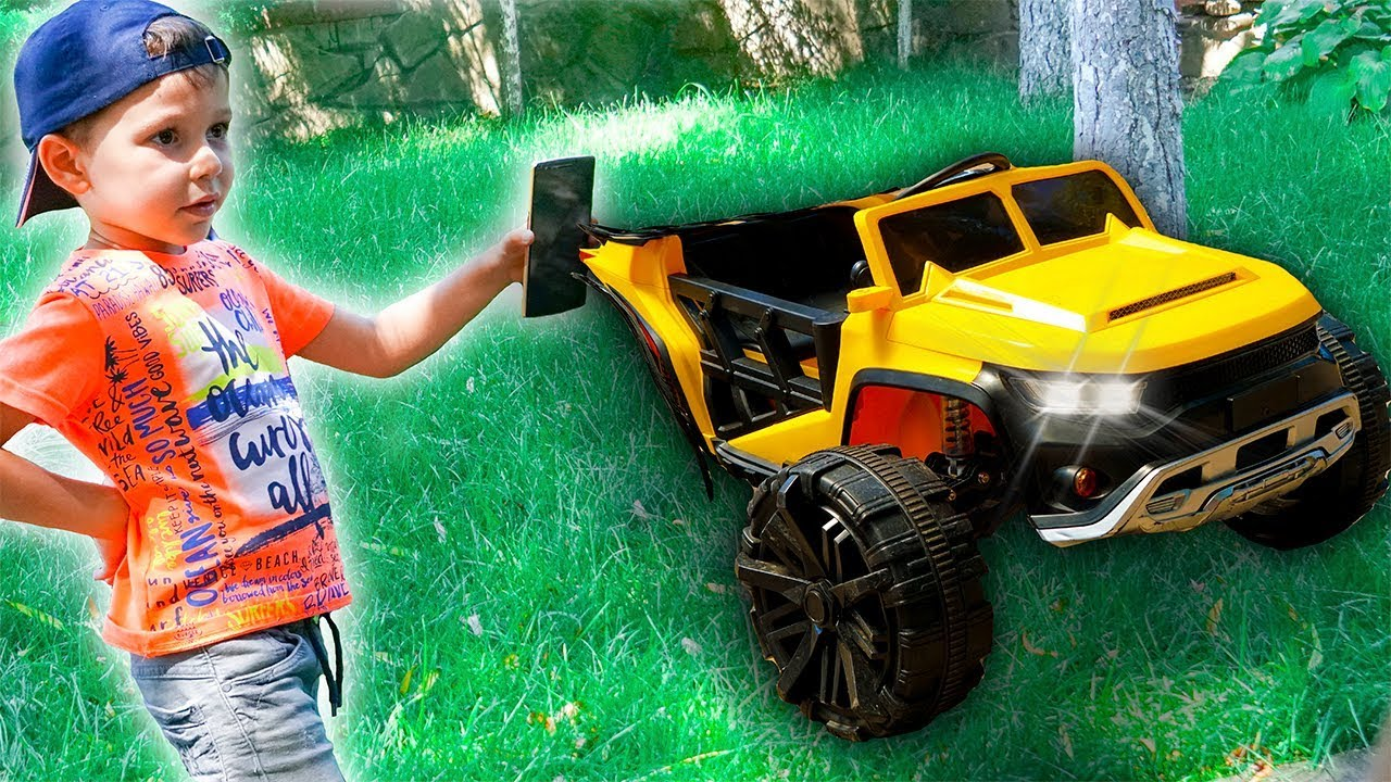 Funny Tema Ride On Cars Sportbike Power Wheels Jeep Police