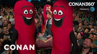 CONAN360°: Nick Kroll Enters #ConanCon Like The King Of Sausages