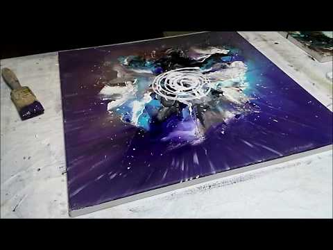 Einfach Malen-Abstrakte Malerei ganz leicht. Abstract Art Painting speed and easy