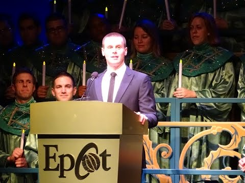 Jonathan Groff at the Candelight Processional at Epcot on 12/3/2014