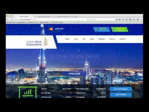 Dubai-Bank.Global HYIP Site Review | SCAM or LEGIT? | Watch this video and decide for yourself.