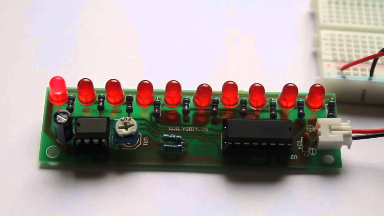 Led Chaser Using Ne555 And Cd4017 Buildcircuitcomau Youtube Electronic Dice Circuit Ic