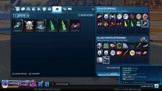 [Rocket League] [PS4] [GIVEAWAYS] Come join for trading and playing :) [400 sub goal!]