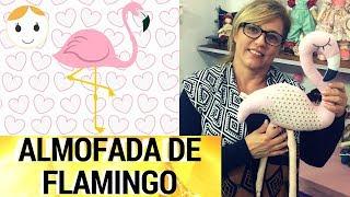 ALMOFADA DE FLAMINGO PASSO A PASSO