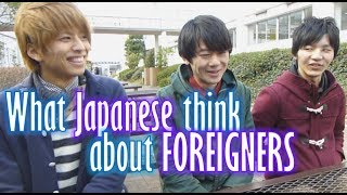 What Japanese think of foreigners (Their voices) 大学生インタビュー(外国人について) thumbnail