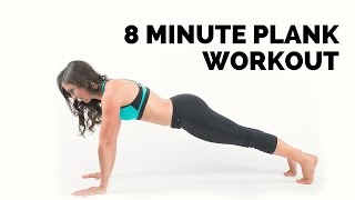 8 minute plank core workout. Full body and ab workout in one!