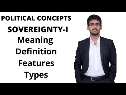 Sovereignty I- Meaning, Definitions, Features and Types of Sovereignty | Political Science