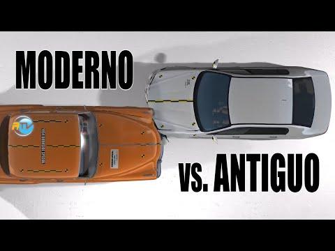 #CAR-CRASH Auto moderno VS. Auto antiguo ¿Cuál gana?