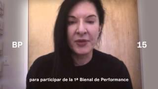 Marina Abramovic @ Primera edición de la Bienal de Performance de la Argentina.