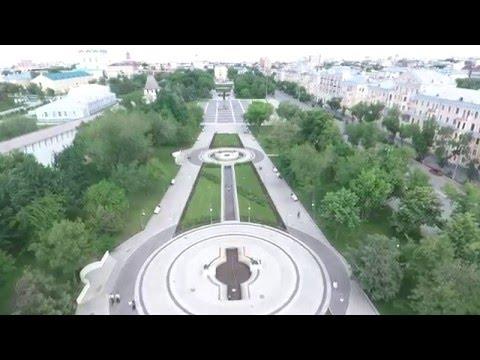 Dji Phantom 4. Астрахань. Площадь Ленина. Russia Astrakhan