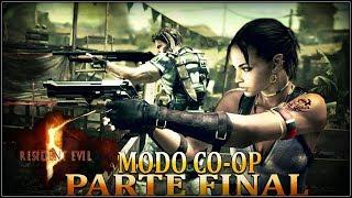 RESIDENT EVIL 5 MODO CO-OP COM A PATROA CAMPANHA  PARTE FINAL  (AO VIVO)