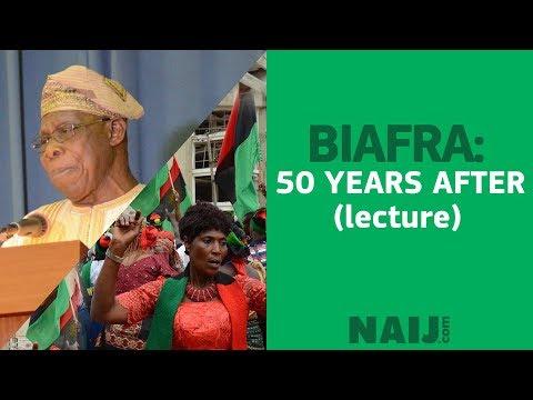 #Biafra 50 lecture with Professor Osinbajo and former President Obasanjo
