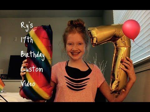 HAPPY 17th BIRTHDAY RY! (Custom Video From Marian) 🎂🍨🎉