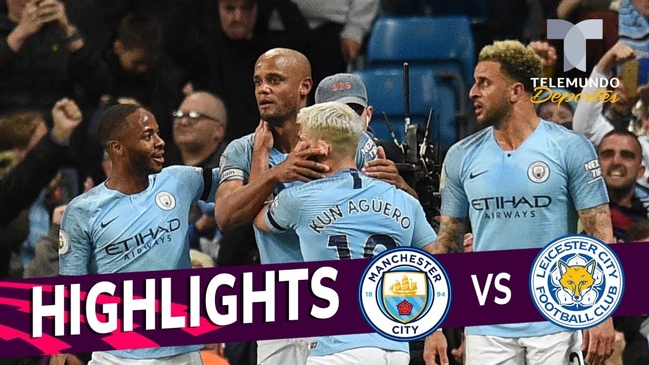 Manchester City Vs Leicester City 1 0 Goals Highlights