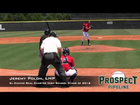 Jeremy Polon Prospect Video, LHP, El Camino Real Charter High School Class of 2016, TOS 1
