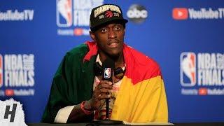 Pascal Siakam Postgame Interview - Game 6   Raptors vs Warriors   2019 NBA Finals