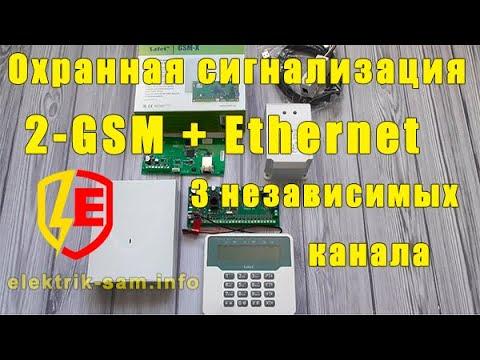 Охранная сигнализация GSM и Ethernet от SATEL- три независимых канала связи
