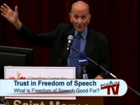 CCEPA: Trust in Freedom pt. 1 - What is Freedom of Speech Good For? - A. Alan Borovoy