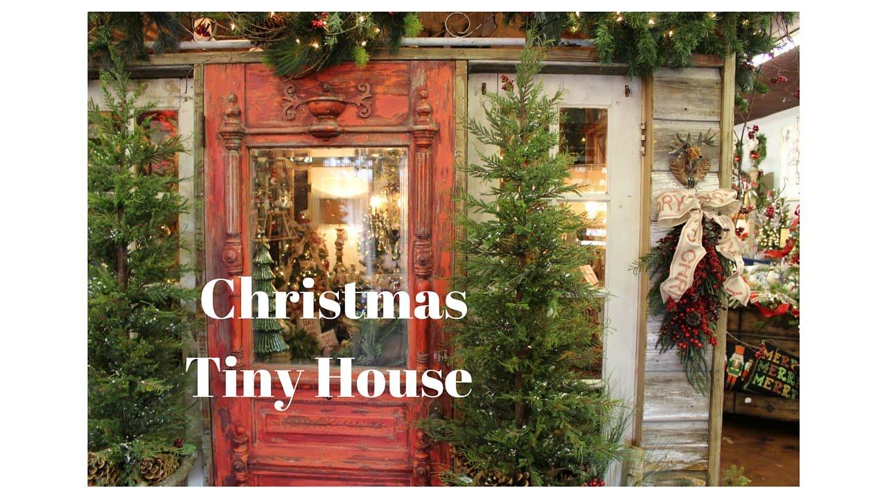 Christmas Tiny House At Interior Homestore Sherman Tx