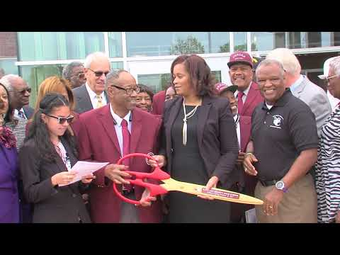 Ribbon Cutting for the new Fairmount Heights High School 10 13 17