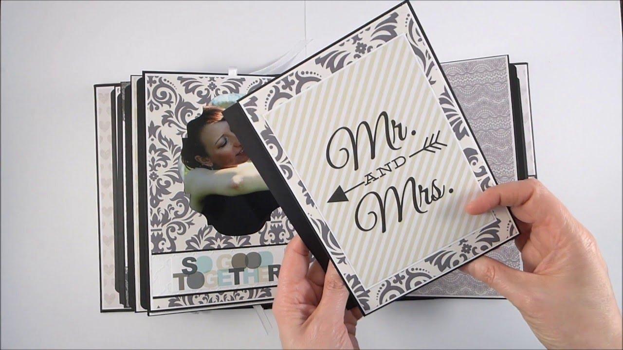 Elegant Wedding Scrapbook Album - YouTube