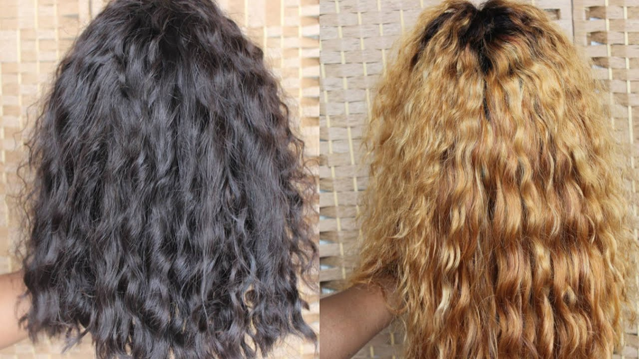 How To Bleach Dark Hair Blonde Youtube