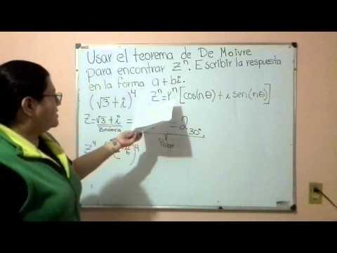 Teorema de De Moivre: Número complejo a la potencia n.