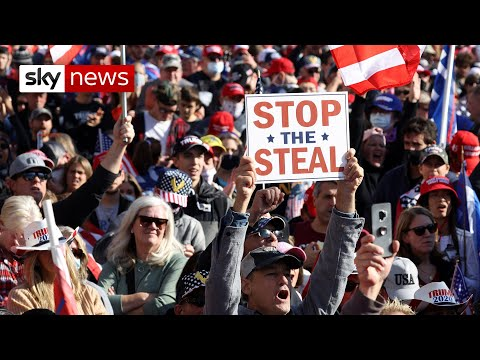 US Election: Trump supporters protest against 'voter fraud'