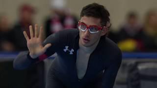 Olympic Long Track Speedskating Trials | Emery Lehman Wins The Men