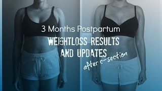 3 Months Postpartum Weightloss Results and Updates after C-Section