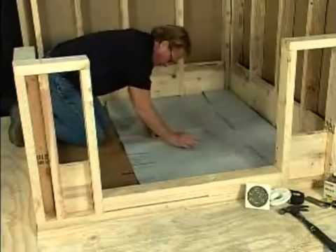 chloraloy shower pan liner installation video youtube. Black Bedroom Furniture Sets. Home Design Ideas