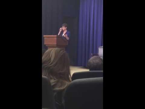 Valerie Jarrett addressing the Jewish American Heritage Month Celebration