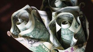 DIY Origami Rose Money | Superholly