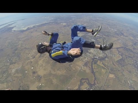 GoPro video captures man convulsing before he can open his parachute; Skydiving accident compilation