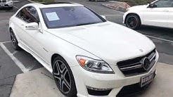 2012 White Mercedes-Benz CL63 AMG