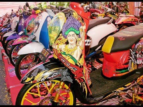 Kontes Modifikasi Motor Scoopy Thailook Babylook Style Terbaru