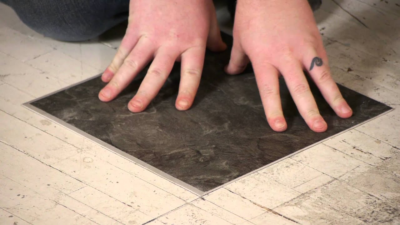 How to install groutable vinyl tile flooring repairs youtube dailygadgetfo Choice Image