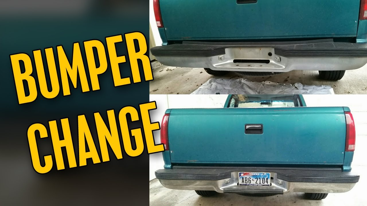 Rear Bumper Removal/Replacet 1993 Chevy CK1500 - YouTube
