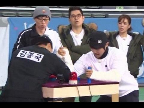 김종국 vs KCM 팔씨름대결
