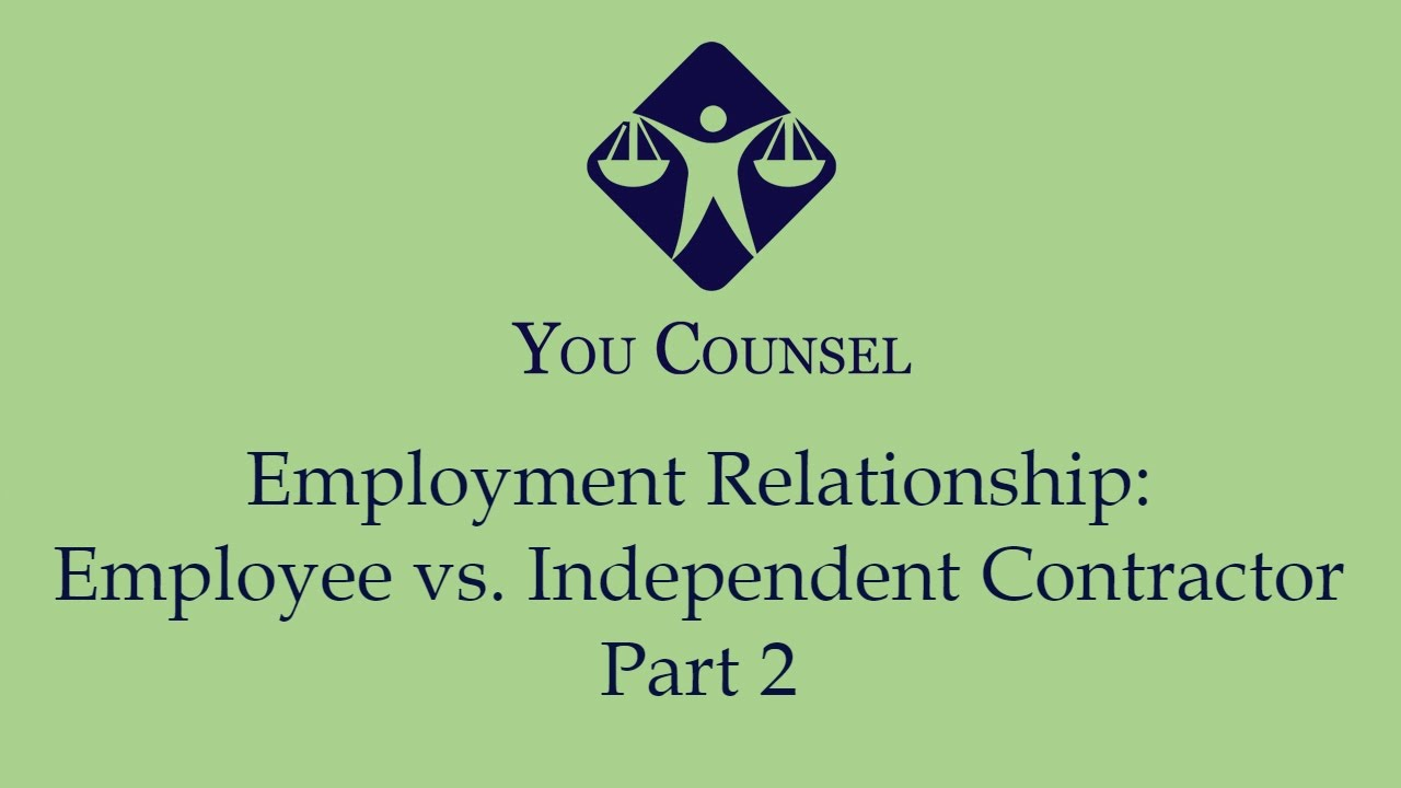 employee vs independent contractor Independent contractors are people who are in business for themselves employees work for someone else's business being classified as an independent contractor instead of an employee has enormous consequences.